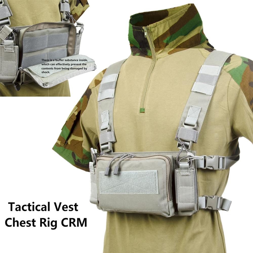 H Harness D3 Tactical Vest Chest Rig 5.56 M4 magazines Pack Pouch Airsoft Accessories Carrier Vest Military BK/CB/OD/GY Colors