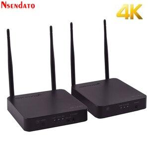 Комплект приемника беспроводной передачи 5 ГГц 4K HDMI, конвертер-удлинитель 200 м, Wi-Fi, HDMI, адаптер для DVD, ПК и ТВ