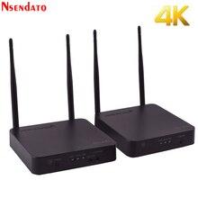 5GHz 4K kablosuz İletim alıcı kiti HDMI Video genişletici dönüştürücü 200M Wifi HDMI gönderen alıcı adaptörü DVD PC TV