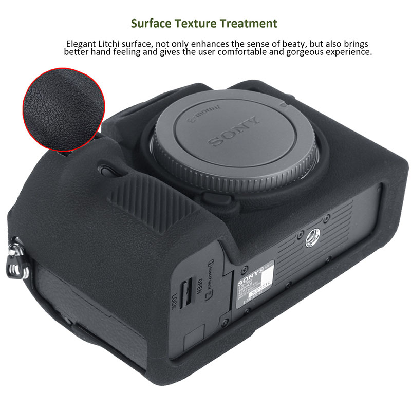 lowest price Camera Cover for Sony A7II A7R2 A7M2 A7S2 A7III A7R3 A7M3 a9 A7R4 Pro Camera Cover for Sony High Grade Litchi Texture