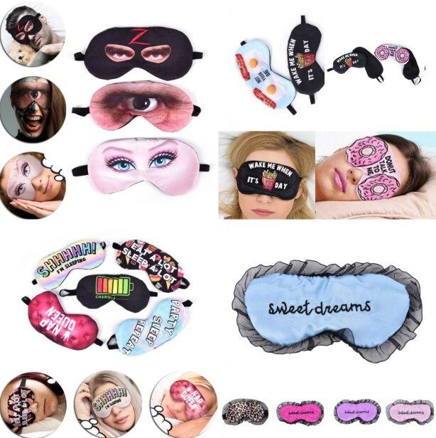 Máscara para dormir feminina, descanso, viagem, relaxante, auxílio para dormir, tampa dobrável, máscara para dormir, estojo para descanso, 1 peça máscara 3d dos olhos
