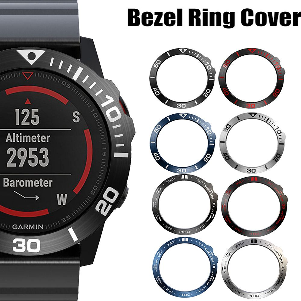Bezel Ring Styling Frame Case For Garmin Fenix 5x 5xPlus 3 3HR Smart Watch Stainless Steel Cover Anti-scratch Protection Ring