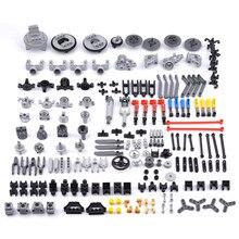 Peças educacionais da suspensão do motor das peças da alta tecnologia de diy para marcas padrão/moc do bloco de construção-cor aleatória