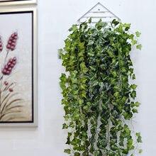 2.1m longo plantas artificiais verde lvy folhas de videira artificial folha parede pendurado guirlanda casa festa de casamento decoração