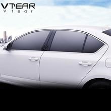 Vtear для Skoda Octavia A7 накладка на окно внешний хромированный Стайлинг из нержавеющей стали для автомобиля-Стайлинг украшения аксессуары
