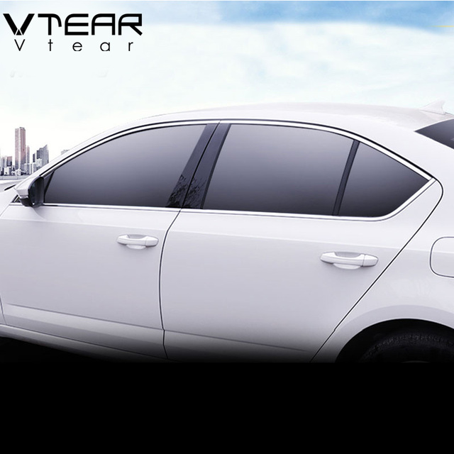 Vtear For Skoda Octavia A7 window trim cover MK3 Exterior Chromium Styling car styling decoration accessories parts 2017 2018