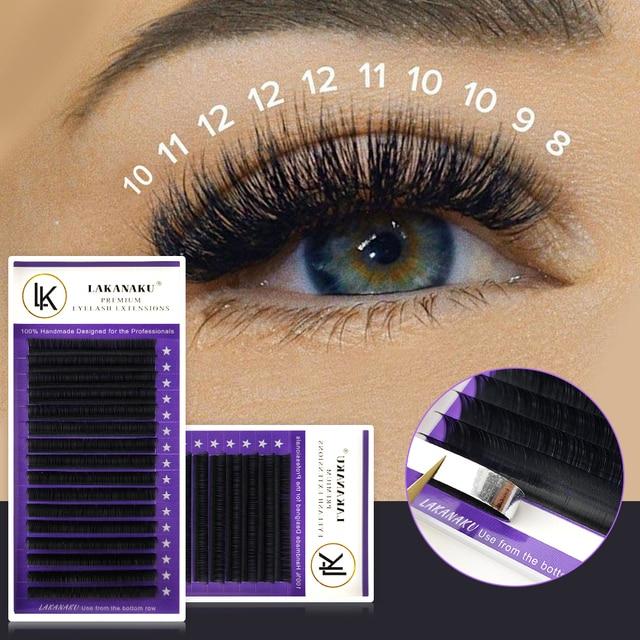 LAKANAKU Individual Eyelashes C D Private Label Mink Eyelash Extensions False Classic Eyelash Lash Extension Makeup 3