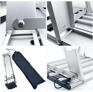 Image 4 - Taşınabilir katlanabilir katlanır masa danışma kamp açık piknik 6061 alüminyum alaşım Ultralight