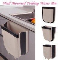#30 New Hot Wall Mounted Folding Waste Bin Kitchen Cabinet Door Hanging Trash Bin Trashcan for Bathroom Toilet Waste Storage|Waste Bins|Home & Garden -