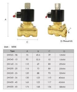 "Image 5 - Electric Solenoid Valve 1/4"" 3/8"" 1/2"" 3/4"" 1"" DN8/10/15/20/25/50 Normally Opened Pneumatic for Water Oil Air 12V/24V/220V/110V"