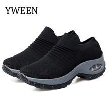 YWEEN Women Platform Sneakers Spring ladies Wedges Casual Shoes