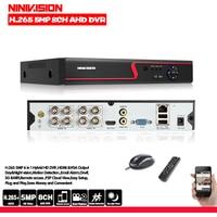 HD 8 Channel DVR Video Recorder H.265+ 5MP 4MP 1080P 8CH 5 in 1 Hybrid DVR With 3G Wifi function for CCTV XVi TVi CVI IP Camera
