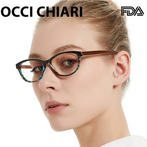 Image 2 - OCCI CHIARI מותג מעצב משקפיים קרינת מרשם הגנת Nerd עדשת רפואי נשים אופטי משקפיים מסגרת PANA