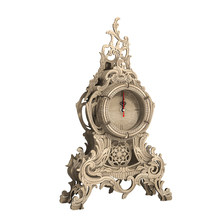 Baroque Art Swinging Bell Shape Retro Table Clock Natural Wooden Clocks Home Decor Nice Gift for New Year Living Room Decoration