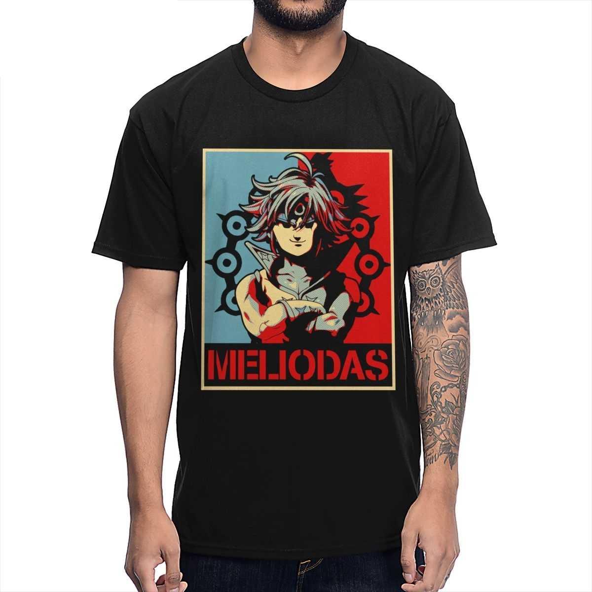 Мужская футболка для отдыха из японского аниме Манга Meliodas Seven deadly sins модная мужская одежда