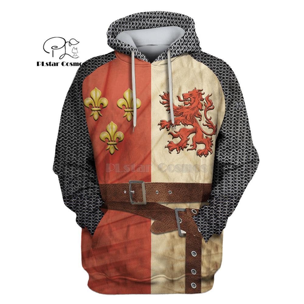 PLstar Cosmos All Over Printed Knights Templar 3d hoodies/Sweatshirt Winter autumn funny Harajuku Long sleeve streetwear