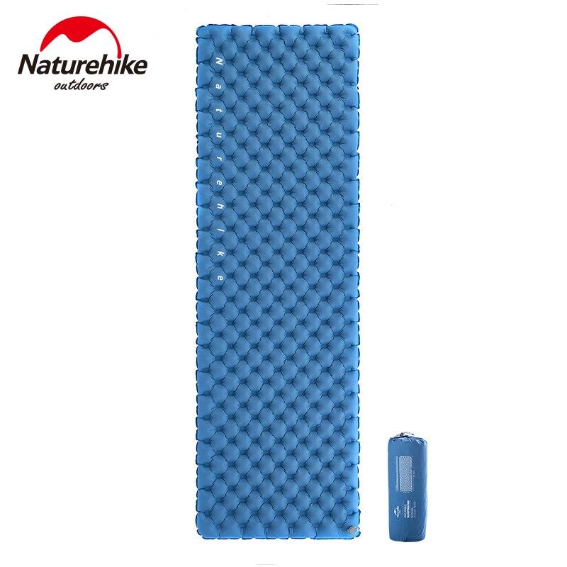 Naturehike Nylon TPU Sleeping Pad Portable Lightweight Dual Air Valves Are Not Afraid Of Leaks Inflatable Mattress Camping Mat