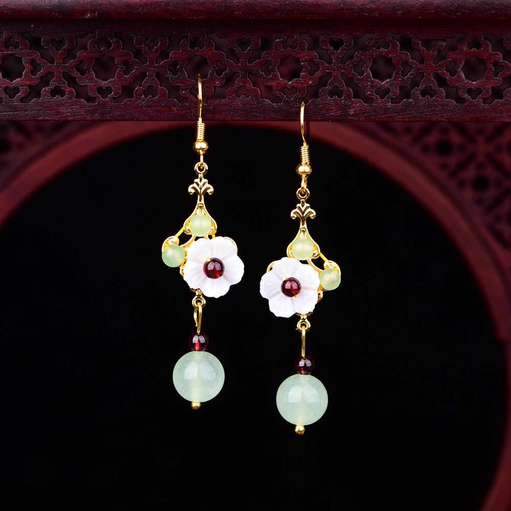 ファッショナブルな気質レトロスタイル耳飾りすべてマッチング中国雲南古代手作りの装飾品妖精新鮮なエスニックイヤリング