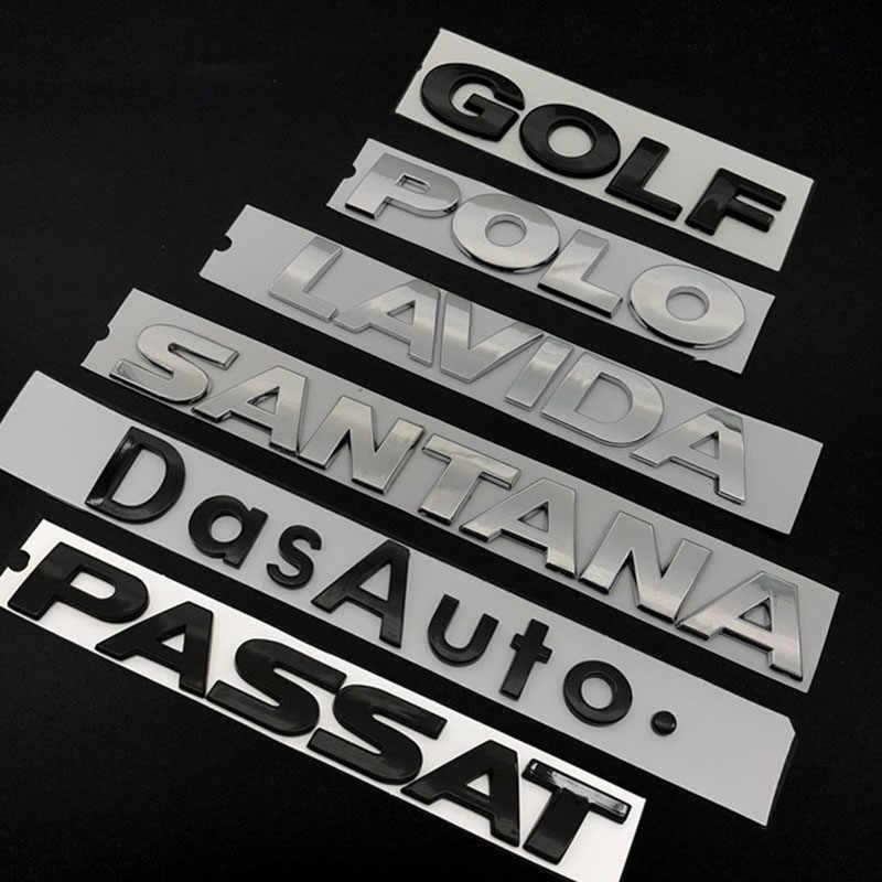 Odważny styl list godło dla VW CC PASSAT SAGITAR TIGUAN LAVIDA MAGOTAN JETT BORA GOLF TOURAN SANTANA Car Styling naklejka na bagażnik