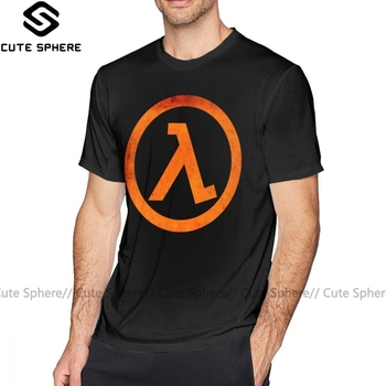 Half Life T Shirt GEEK Half Life Rust Logo T-Shirt Man 6xl Tee Shirt 100 Percent Cotton Fun Short Sleeves Print Casual Tshirt half a life