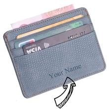 Wallet-Case Bank Business-Id-Card-Holder Lizard-Pattern Id-Window Travel Small Mini Women