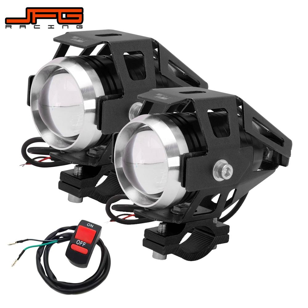 Motorcycle Headlights Bulbs Lamp U5 Led Spotlight Hi/Lo Flash Accessories 12V Motor For HONDA YAMAHA KAWASAKI SUZUKI BMW Harley