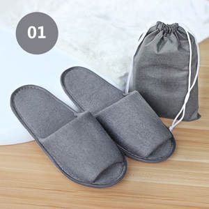 Portable Slipper Guest Travel Women Folding Hotel Home Club SPA 1pairs Business-Trip