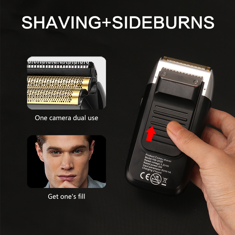 Kemei Rechargeable Electric Shaver LCD Display Portable Waterproof Reciprocating Cordless Men Reciprocating Razor Beard Trimmer 4