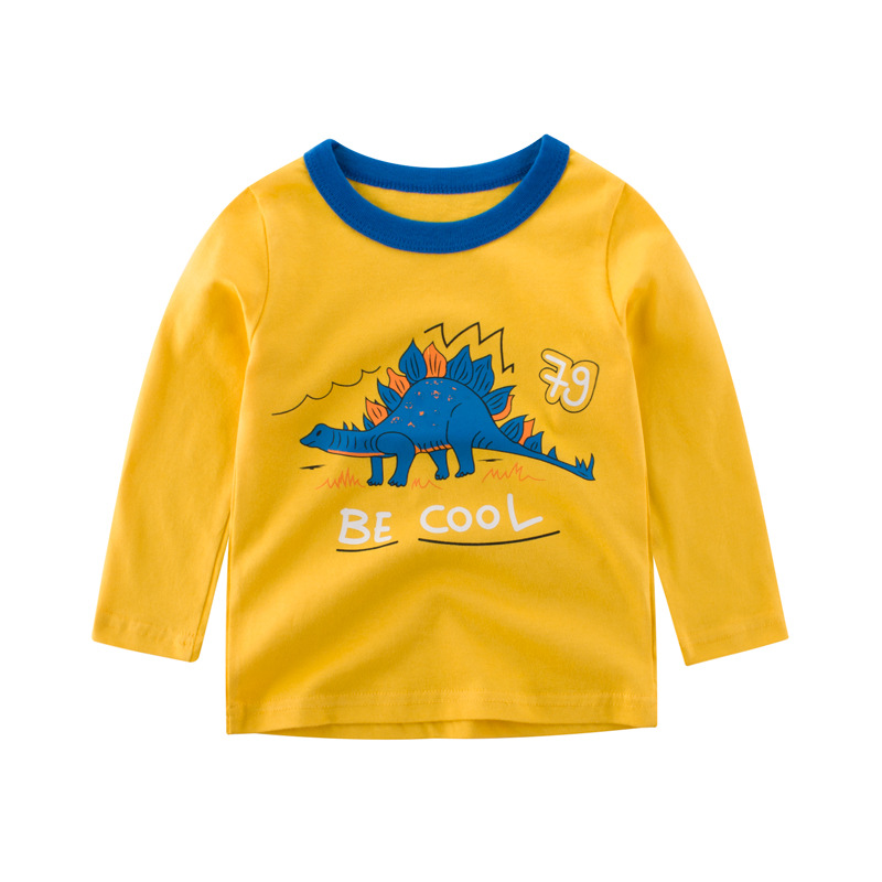 Boys T Shirt Long Sleeve cartoon Dinosaur Tops For <font><b>Baby</b></font> Boy <font><b>Tshirts</b></font> Kids <font><b>Tshirt</b></font> <font><b>Animal</b></font> Print Top Clothes Toddler Shirts image