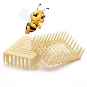 Image 1 - 50pcs Plastic Queen Marker Cage Clip White Creative Bee Catcher Beekeeper Beekeeping Tools Equipment 7.2*5.1*2.2CM 2019 New