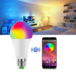 Smart Dimmable LED Smart Lamp Home Bluetooth Bulb E27 Base AC 85-265V RGBW RGBWW Neon Light Bulb Music Bluetooth 4.0 APP Control