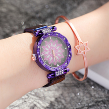 Luxury Brand Watches for Women Stylish Stainless Steel Mesh Magnetic Buckle Quartz Wristwatch Floral Ladies Watch Rolej Mujer