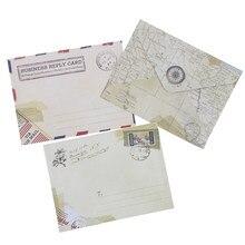 24 шт винтажные маленькие Мини крафт-бумажные оконные конверты свадебные приглашения конверт Подарочный конверт Ancien 72*95 мм