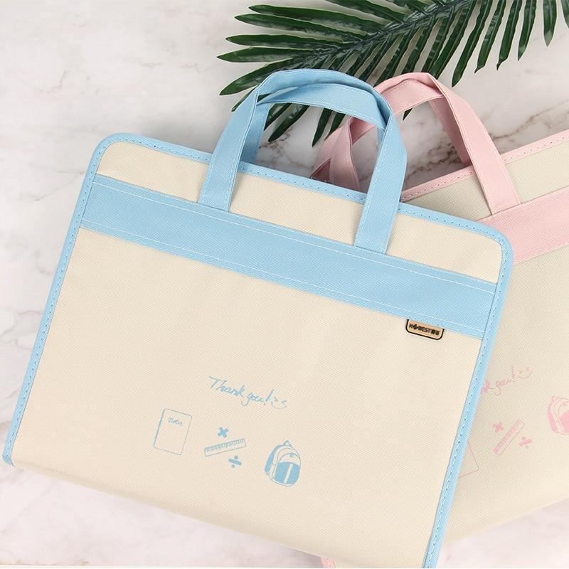 Oxford 13 Layer PP File Folder A4 Waterproof  Storage Folder  Travelers Notebook Storage Bag Double Zipper  Expanding Wallet