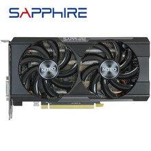 Verwendet SAPPHIRE Grafikkarten R7 R9 370 4GB 256Bit GDDR5 Video Karte Für AMD AMD R9 370X Serie R7 370 4GB DisplayPort PCI-E