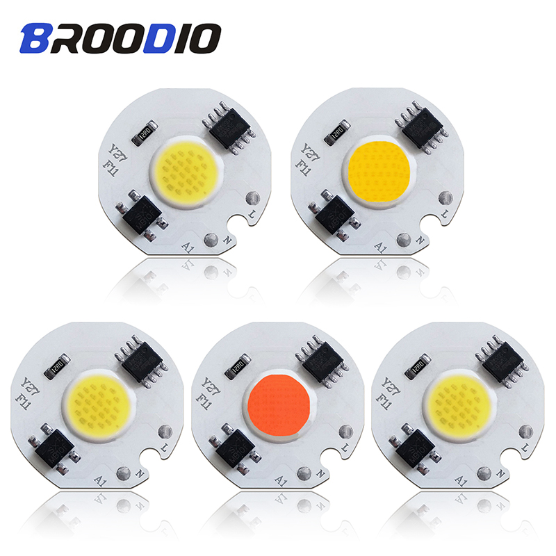5pcs LED Bulb Lamp Chip COB AC 110V 220V Smart IC LED Grow Light Lampada 3W 5W 7W 10W 12W Warm White Full Specturm Beam LEDs DIY