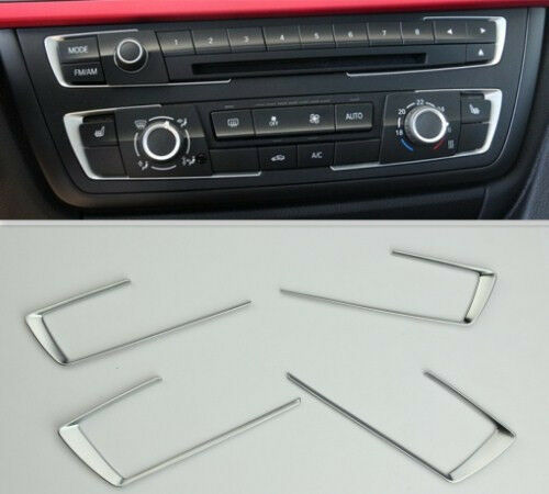 For BMW 3 4 Series F30 F32 F34 320 420 2013 2014 Chrome Dashboard Console cover trim|Chromium Styling| |  - title=