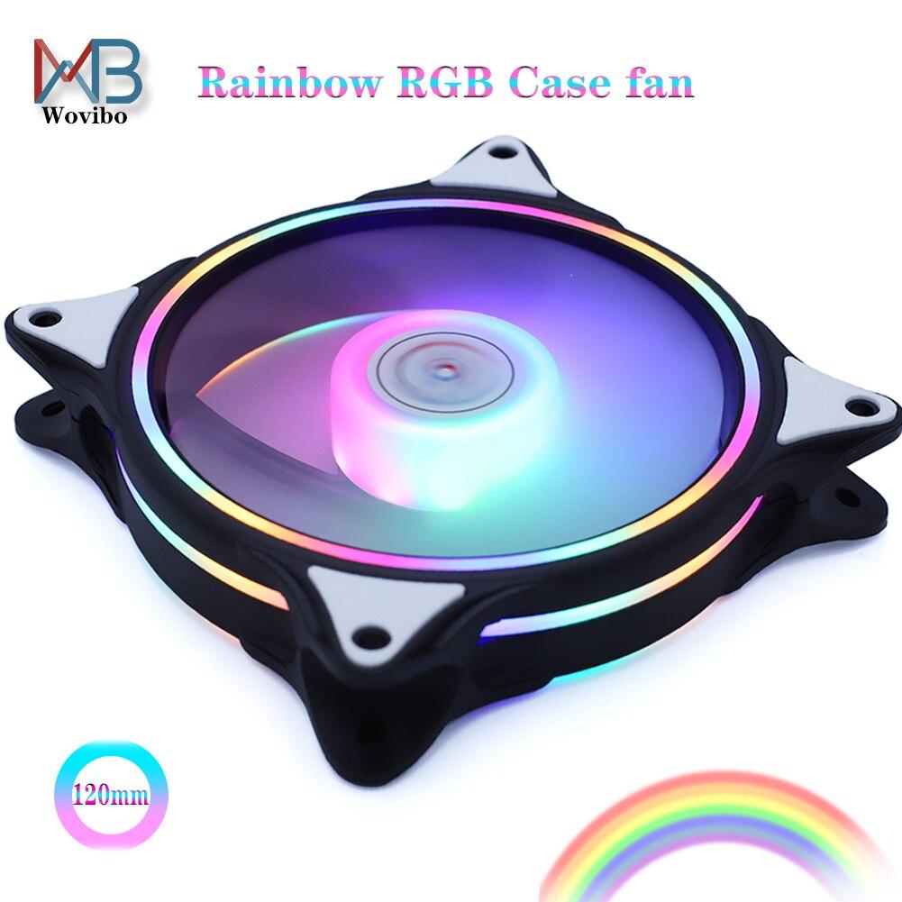 2020 новейший двойной rgb кольцевой чехол вентилятор 120 мм вентилятор для компьютера ПК охлаждающий кулер вентилятор d тип 4PIN интерфейс RGB светодиодный|Кулеры/вентиляторы/системы охлаждения|   | АлиЭкспресс