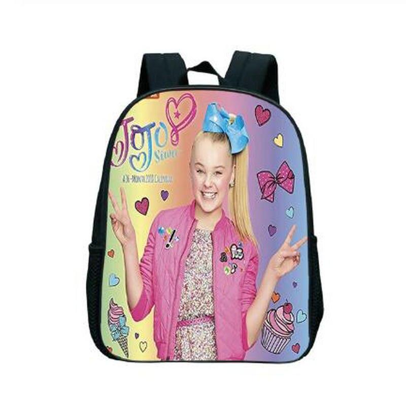 Jojo Siwa Small Backpack Toddler Portable Backpack Boys Girls Kindergarten School Bags Kids Travel Bags Primary Book Bags
