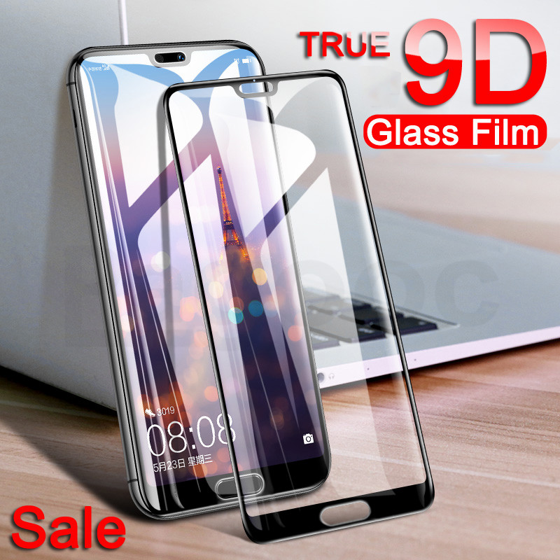 9D Curved Edge Protective Glass For Huawei P30 P20 P10 Lite Plus P30 P20 Pro Tempered Screen Protector For Huawei P20 Lite Glass