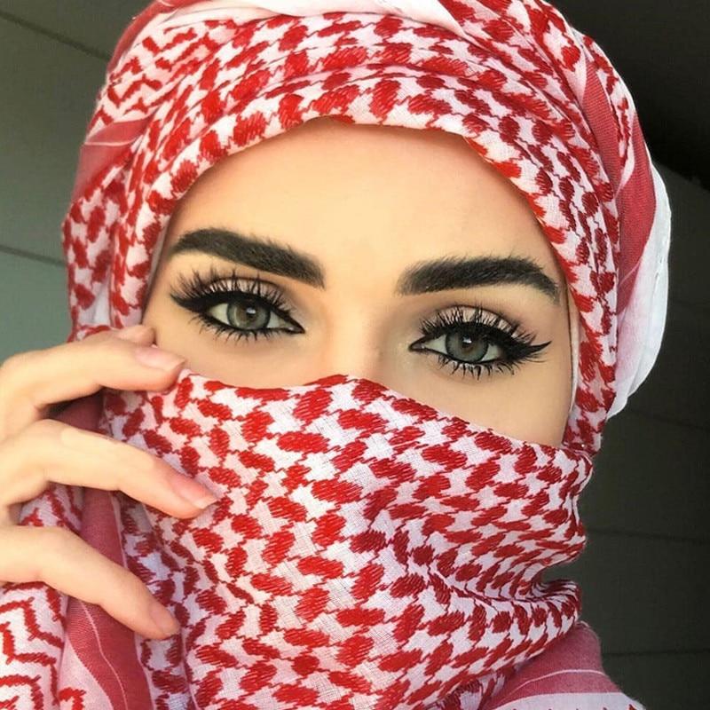 2020 Men Arab Headwear Hijab Scarf Islamic Foulard Print Scarf Turban Arabic Headcover For Men's Muslim Clothing Prayer Turbante