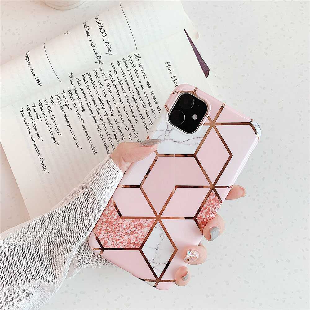 Marble Plating Case for iPhone SE (2020) 24