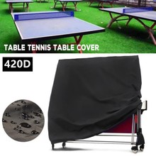 1pcs Outdoor Table Tennis Ping Pong Table Cover Waterproof 420D Oxford Cloth Dustproof Racquet Sports Accessories 165x70x185cm