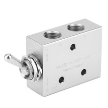 Pneumatic Toggle Switch Valve 2-Position 5-Way Mechanical Knob G1/8in 1.5~8kgf/cm2