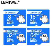 Lemiwei Baymax Top Kwaliteit Tf Card 64 Gb Class 10 Waterdichte Geheugenkaart 32 Gb Mini Kaart Voor Telefoon Tablet pc Waterdicht(China)