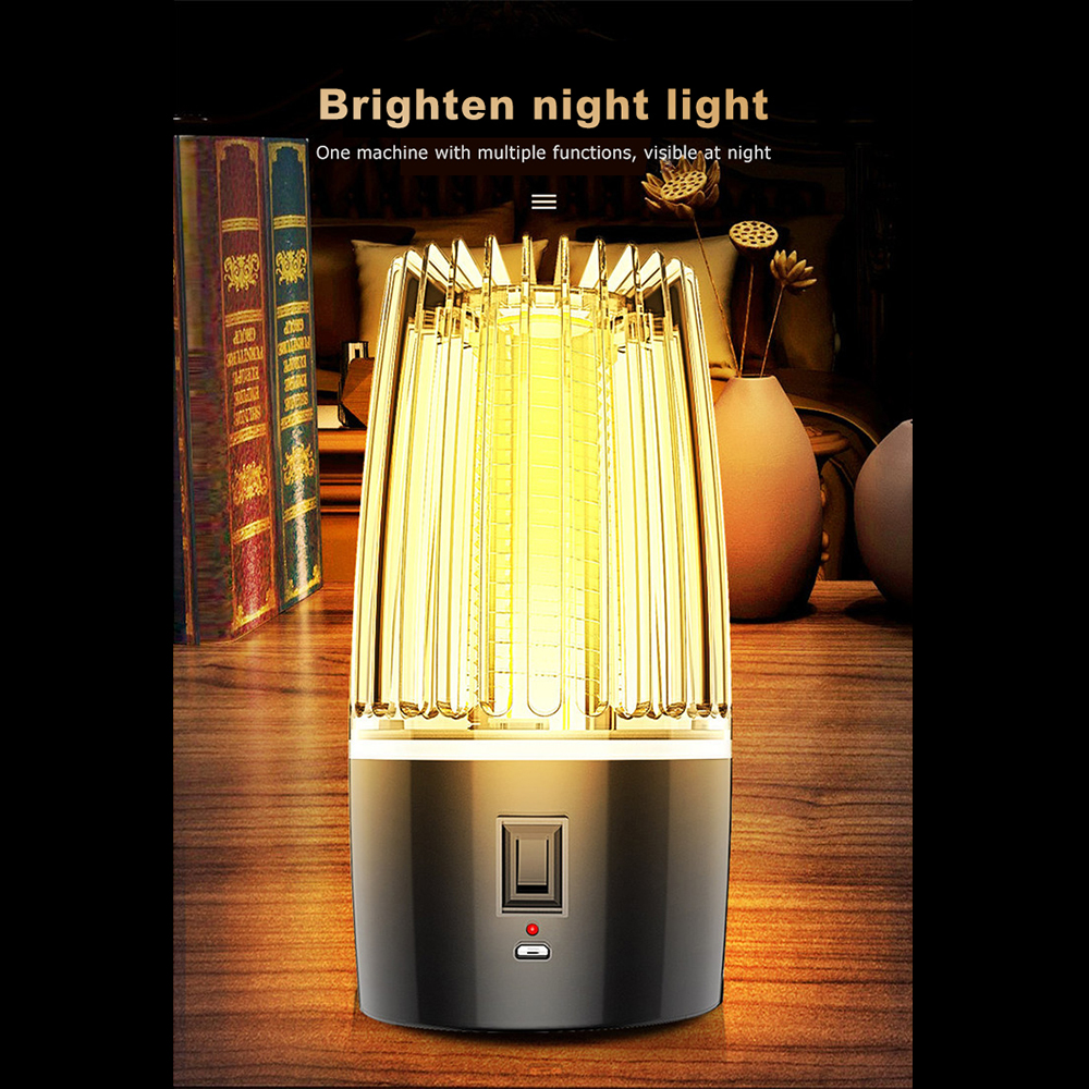 Батарея 4000ma 2-в-1 USB аккумуляторная анти-москитная лампа убивает насекомых убийца отпугиватель кемпинг световая ловушка Комаров