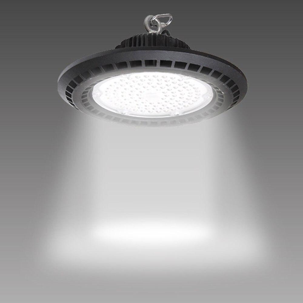 50 w-iluminação comercial industrial da baía da luz da garagem da luz 14000lm 200 k do diodo emissor de luz da baía de 6500 w ufo para a oficina do armazém