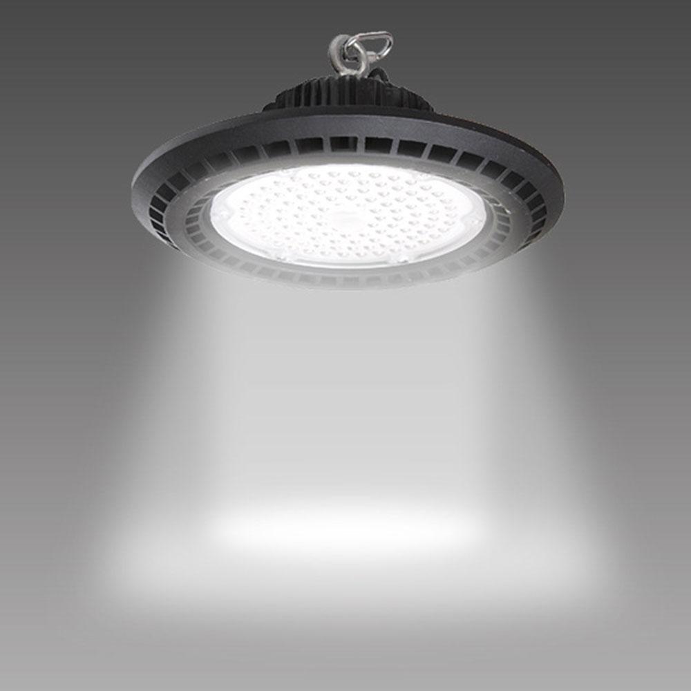 50W-200W UFO LED High Bay Light Fixture 14000lm 6500K Garage Light Industrial Commercial Bay Lighting For Warehouse Workshop