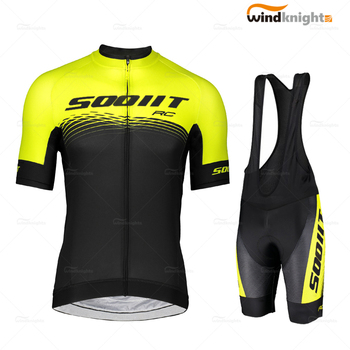 Man Bike Jersey Set Scottes-pro 2020 Summer Short Sleeve Cycling Clothing Breathable Bib Shorts Suit Road Triathlon Mtb Uniform