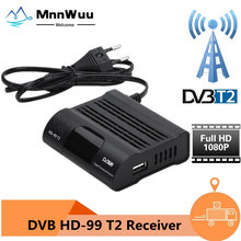 HD99 TLC HEVC 265 DVB T2 sintonizador de TV Digital H.265 TV Receptor HD DVBT2 Set-top Box Wifi Receptor DVB-T de Youtube